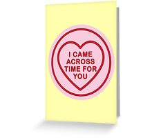 Geeky Love Hearts - Time Greeting Card