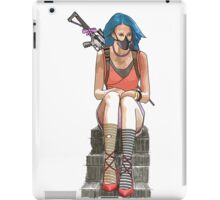 sitting waiting iPad Case/Skin