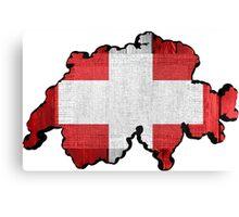 Switzerland Map Flag Canvas Print