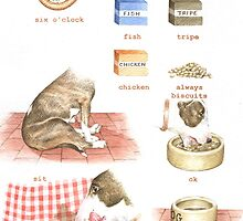 D IS FOR DINNER From A Bull Terrier's Alphabet by threebrownhares
