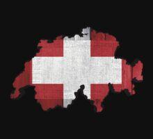 Switzerland Map Flag by Nhan Ngo