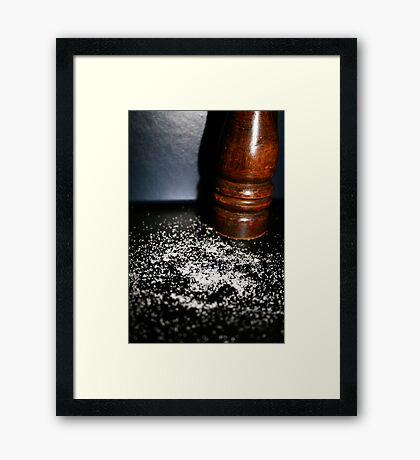 Salt Framed Print