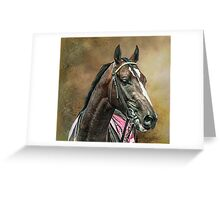 A Racehorse called Venue Greeting Card