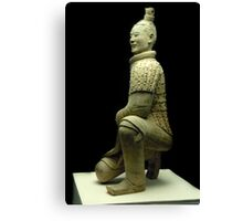 Full figure Archer of the Terracotta Soldiers Canvas Print