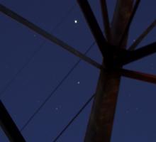 Pylon and the Night Sky Sticker