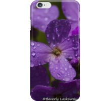 Purple Wildflowers after the Rain iPhone Case/Skin