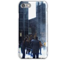 PPG Place in Pittsburgh, PA - Wind Made a Snowy Tornado iPhone Case/Skin