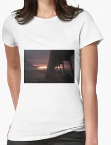 Port Hughes Jetty Womens Fitted T-Shirt