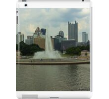 View of Pittsburgh's Point State Park from the Gateway Clipper Fleet iPad Case/Skin