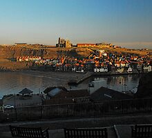 Whitby Abbey Sunset by dougie1
