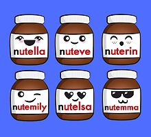 Nutella faces by Lauramazing