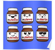 Nutella faces Poster