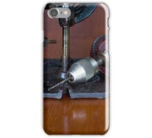 Vintage Manual Hand or Belt Driven Scroll Saw iPhone Case/Skin