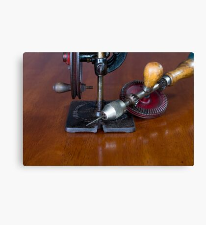 Vintage Manual Hand or Belt Driven Scroll Saw Canvas Print