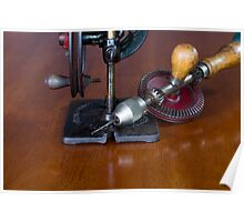 Vintage Manual Hand or Belt Driven Scroll Saw Poster
