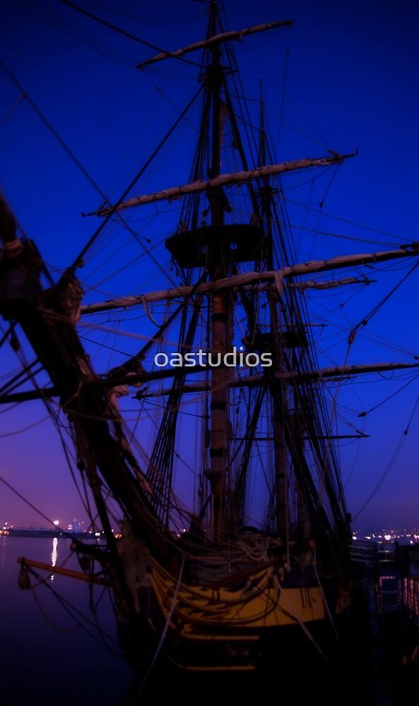 Slumber on the Harbor Silk by oastudios