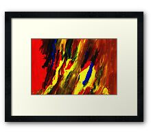type of my monotype Framed Print