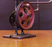 American Made Retro Hand Powered Scroll Saw by EmeraldRaindrop