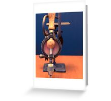 Made In USA Vintage Manual Hand Tools Greeting Card