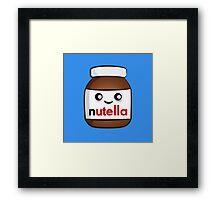 Nutella face 2 Framed Print