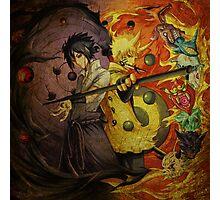 Naruto And Sasuke (Grunged) Photographic Print