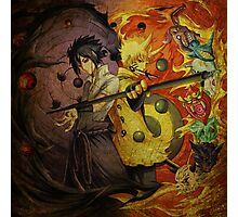 Naruto And Sasuke (Grunged) Photographic Print
