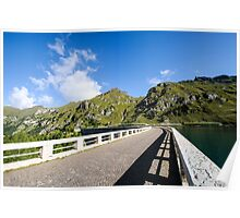 Dam and Lake Fedaia, Trentino, Italy Poster