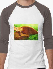 Mushroom Macro Men's Baseball ¾ T-Shirt