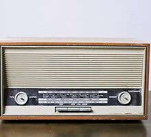 retro Telefonken radio receiver on white background by PhotoStock-Isra