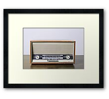 retro Telefonken radio receiver on white background Framed Print