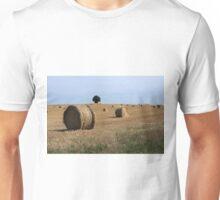 Straw Bale Field Unisex T-Shirt