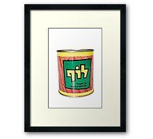 a tin of Luf, Israeli Kosher SPAM  Framed Print