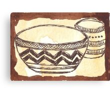 African clay pots - Ethnic series Canvas Print