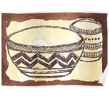 African clay pots - Ethnic series Poster