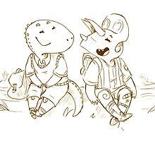 Good pals by Nikita Horridge
