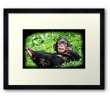 ..:monkey relax:.. Framed Print