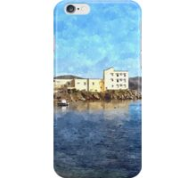 Island Caprera: sea landscape buildings an boats iPhone Case/Skin
