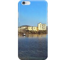 Island La Maddalena: sea landscape buildings and boats iPhone Case/Skin