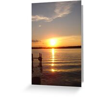Sunset At Blarney Island Greeting Card