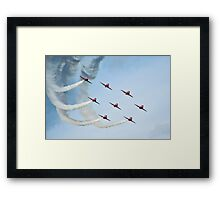 Red Arrows Framed Print