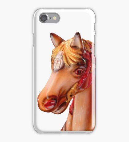 Head of a horse on a merry-go-round iPhone Case/Skin