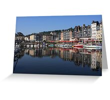 The Port Of Honfleur Greeting Card