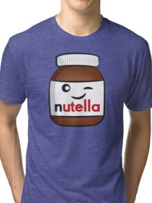 Nutella face 4 Tri-blend T-Shirt