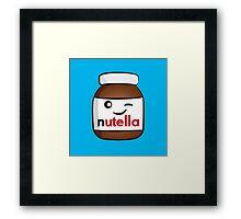 Nutella face 4 Framed Print