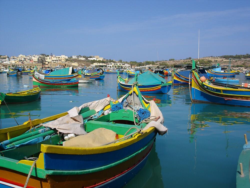 Maltese Fishing Boats by CBenson