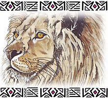 African Lion - Ethnic series by Maree  Clarkson