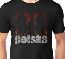 Polish Eagle Flame t shirt Unisex T-Shirt
