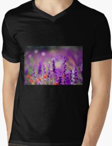 Purple Echium vulgare (Viper's Bugloss or Blueweed)  Mens V-Neck T-Shirt
