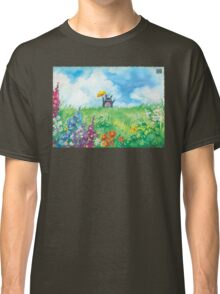 the cat in the field Classic T-Shirt