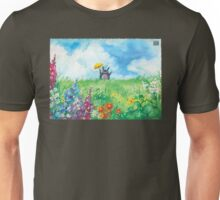 the cat in the field Unisex T-Shirt